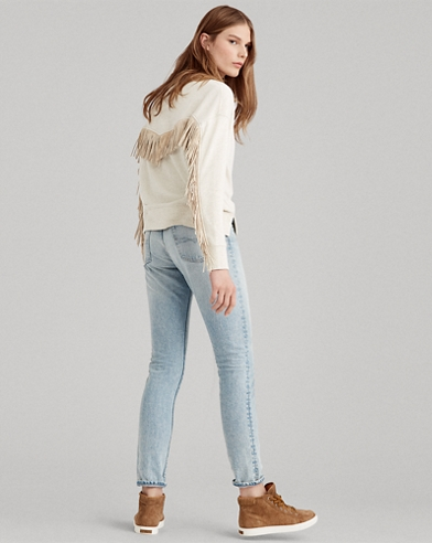 Fringe-Trim Fleece Pullover