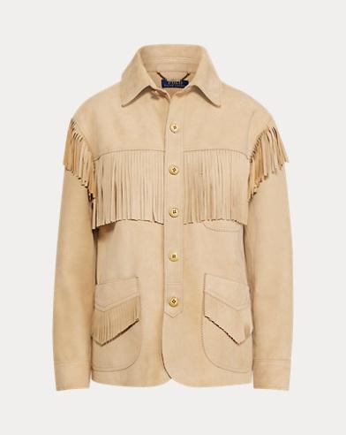 Polo Ralph Lauren. Corduroy Blazer. $398.00. Fringe Suede Jacket