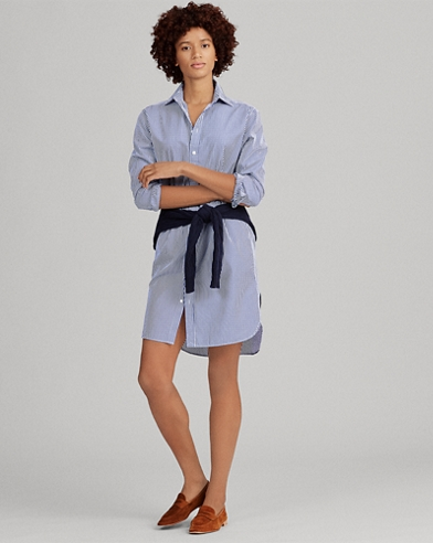 Monogram Cotton Shirtdress