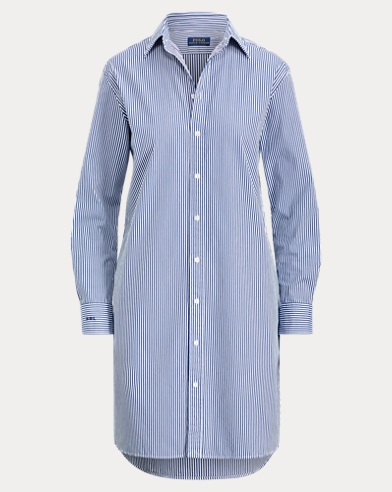 Polo Ralph Lauren. Embroidered Denim Dress. $498.00. Monogram Cotton  Shirtdress