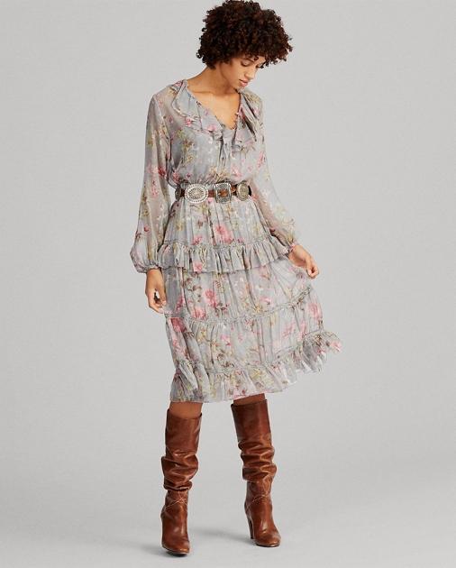 785480f9d06bcf Polo Ralph Lauren Floral-Print Silk Dress 1