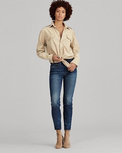 Cotton Twill Button-Down Shirt