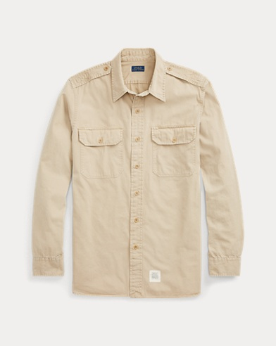 Cotton Twill Button-Down Shirt