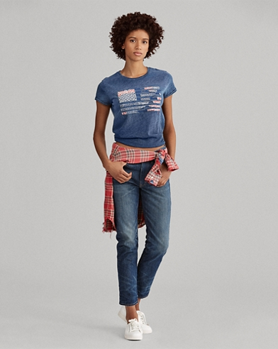 Flaggen-T-Shirt aus Jersey