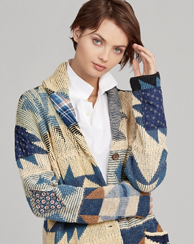 Patchwork Geometric Cardigan