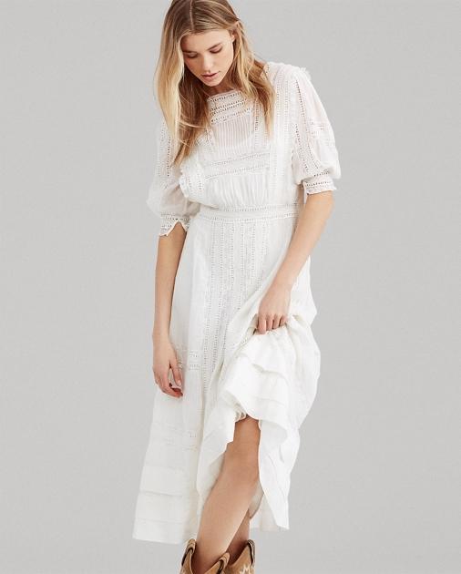 4b74a26f9ce Polo Ralph Lauren Cotton Voile Midi Dress 1