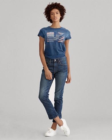 Jeans Waverly corti a vita alta
