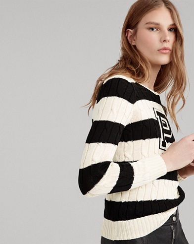 Patch Striped Cotton jumper