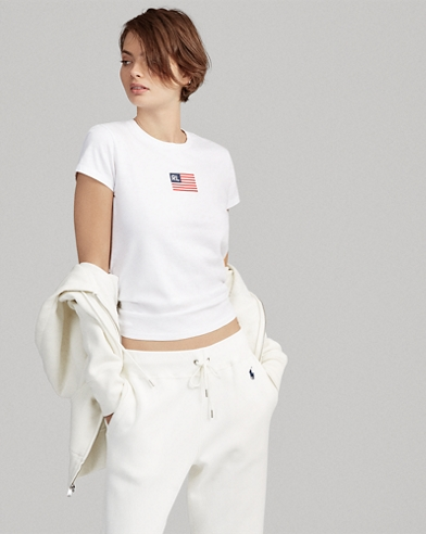 Flag Cotton T-Shirt