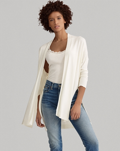 Side-Slit Open Cardigan