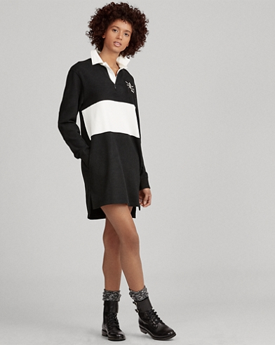 Embroidered Rugby Shirtdress