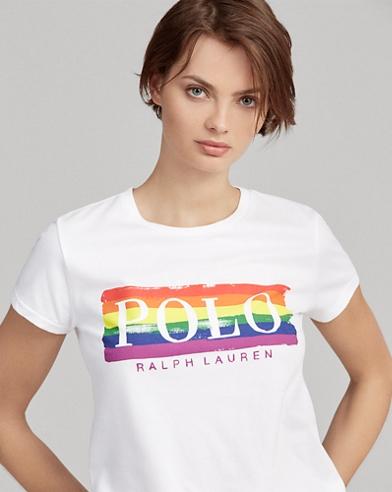 Camiseta con estampado gráfico y logotipo del orgullo