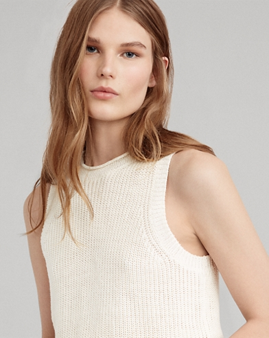 Linen Sleeveless Sweater