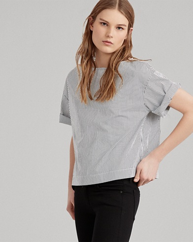 Cotton Short-Sleeve Blouse