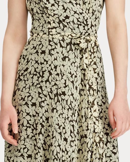 8c7183e592 Polo Ralph Lauren Floral Crepe Wrap Dress 4