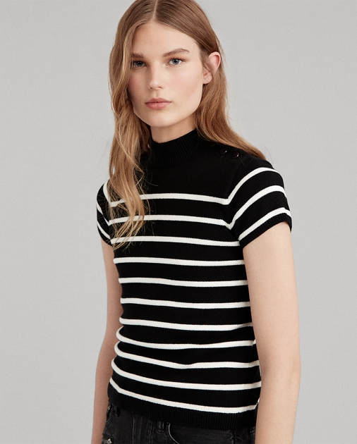 Polo Ralph Lauren Striped Mockneck Sweater