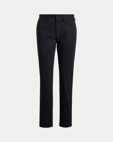 Hose in 3/4-Länge aus Stretch-Twill