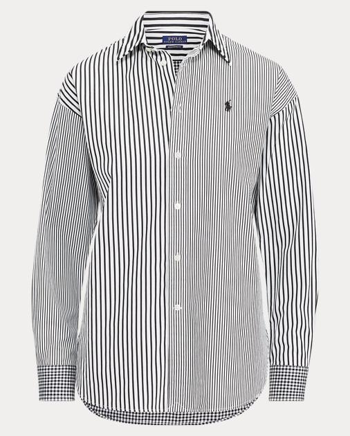 af848ec38b Striped Cotton Boyfriend Shirt | Ralph Lauren UK