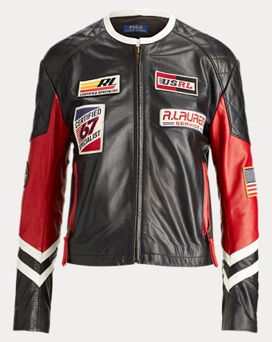 Patchwork Leather Biker Jacket