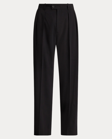 Wool-blend Straight Trouser
