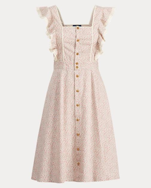Ruffle Trim Floral Dress by Ralph Lauren