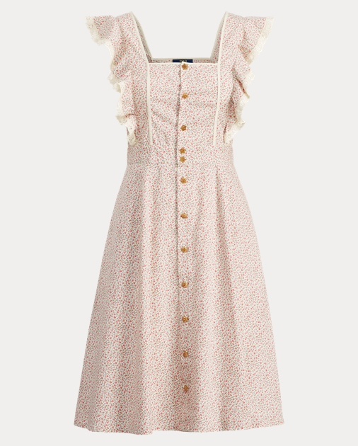 73502dfe09 Ruffle-Trim Floral Dress
