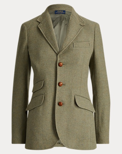 Blazer in tweed di misto lana
