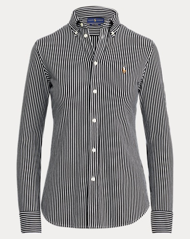 Striped Knitted Oxford Shirt