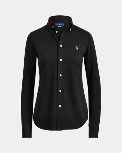 Camicia Oxford in maglia di cotone