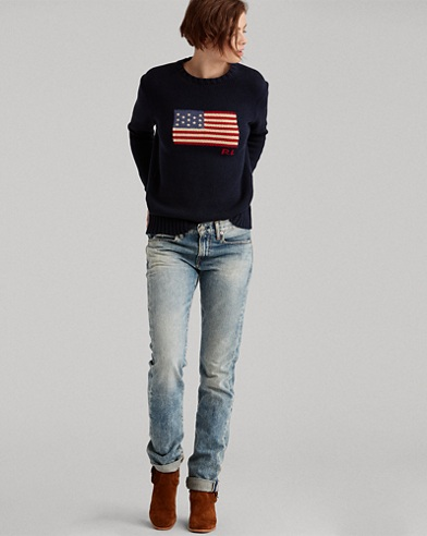 Flag Cotton Crewneck jumper