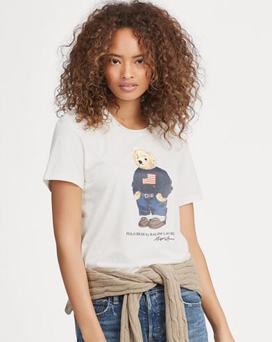 Flag Bear Cotton T-Shirt