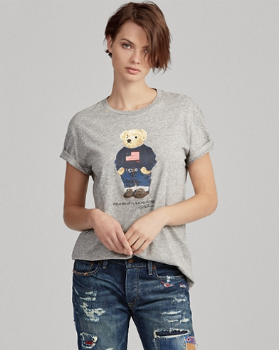Flag Bear Cotton T-Shirt