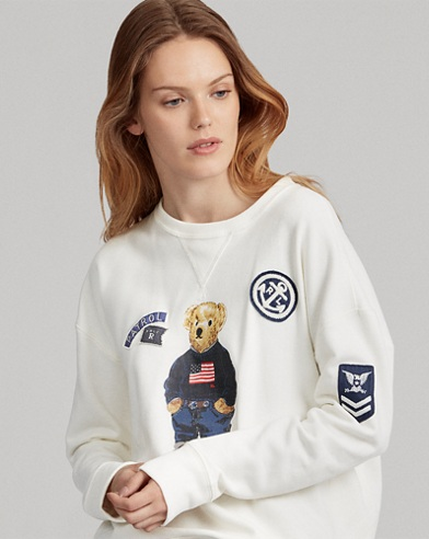 Patchwork Polo Bear Pullover
