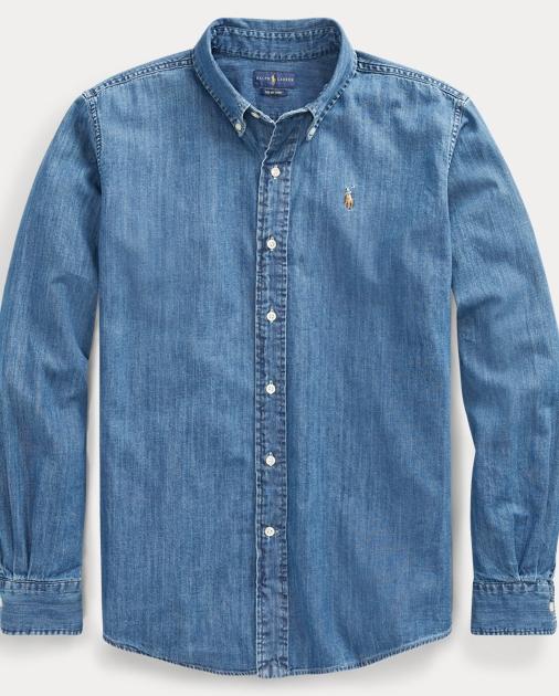 40add20b2d69e Polo Ralph Lauren Chambray Big Shirt 1