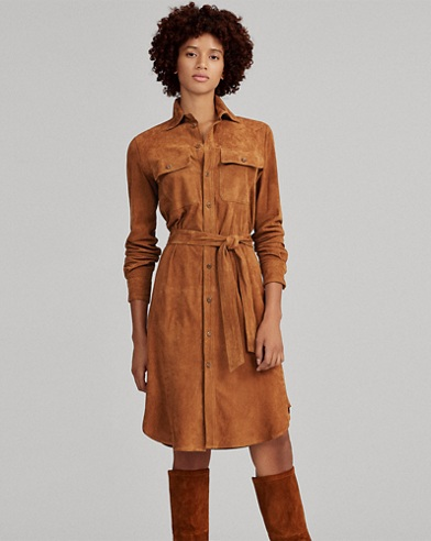 Suede Shirtdress
