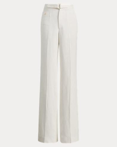 Linen-Blend Wide-Leg Trouser