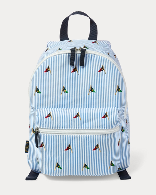 Embroidered School Backpack