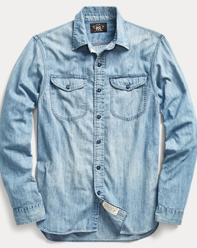 Indigo Cotton Denim Workshirt