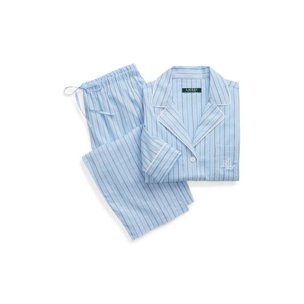 Ralph Lauren Cotton-Blend Pajama Set Bluestp S