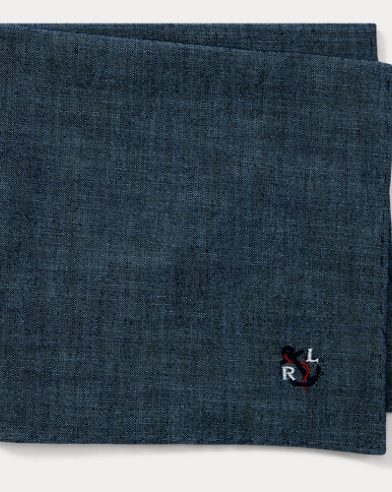 Anchor Chambray Pocket Square