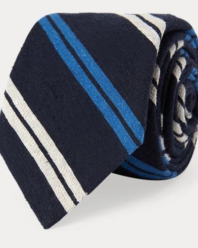 Striped Bourette Narrow Tie