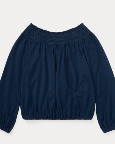 Smocked Stretch Jersey Top