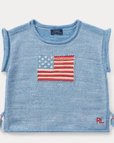 Flag Tassel Cotton Sweater