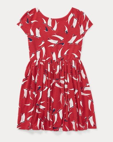 Sailboat Twist-Back Dress