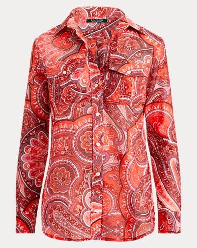 Camisa de algodón y seda