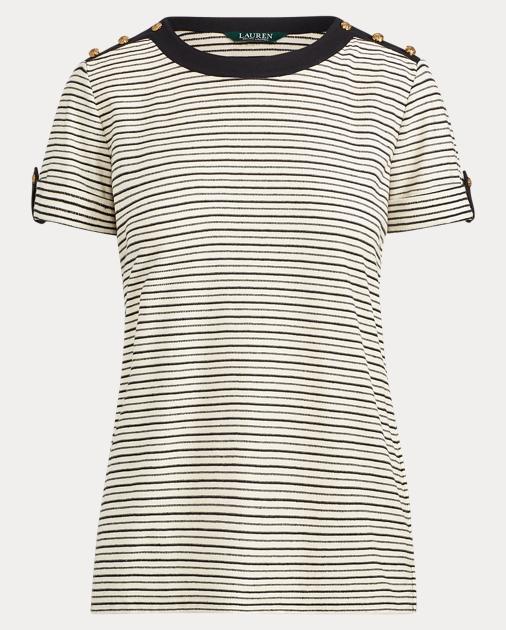0cfbf76d Striped Button-Shoulder Top | Ralph Lauren DE