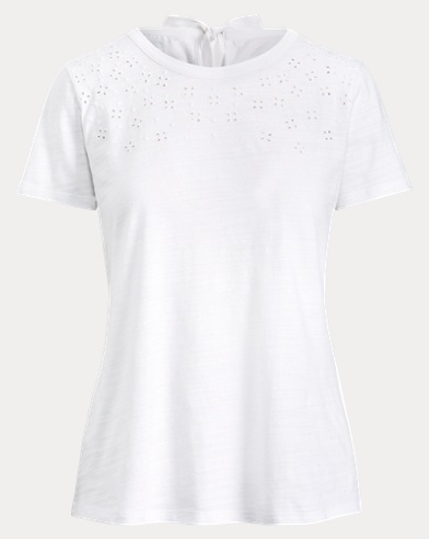 Eyelet-Embroidered T-Shirt