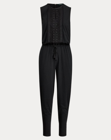 Skinny-Fit Jumpsuit aus Jersey