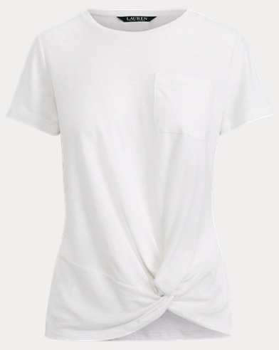 Twisted-Hem T-Shirt
