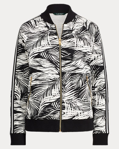 Tropical-Print Bomber Jacket